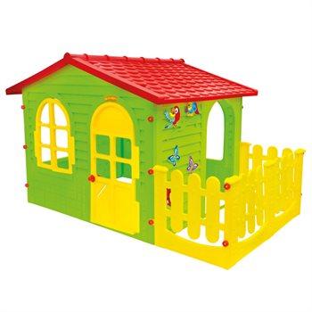 """Image of   Legehuset """"Garden House"""" med stakit XL"""