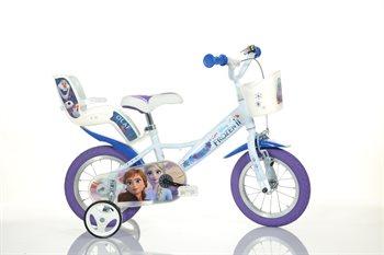 "Image of   12"" Licens Frozen 2 cykel m cykelkurv og cykelstol"