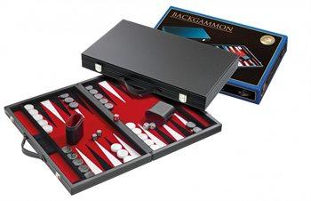 Image of   Backgammon luksus udgave i kunstlæder