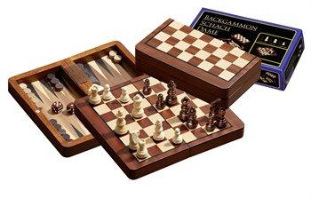 Image of   Skak, backgammon og dam - magnetisk - rejseudgave