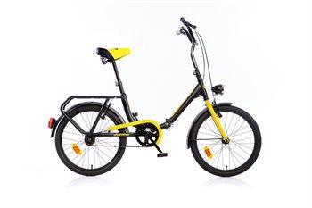 """Image of   20"""" Aurelia Foldecykel / bådcykel Sort (perfekt til camping og som bådcykel)"""