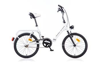 """Image of   20"""" Aurelia Foldecykel / bådcykel Hvid (perfekt til camping og som bådcykel)"""