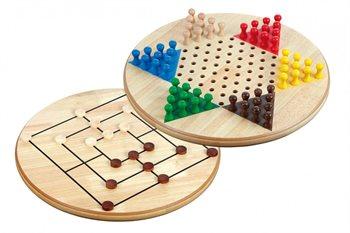 Image of   Kinesisk skak og Mølle - 2 spil i et - stor udgave