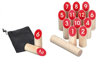 Image of   Number Kubb spillet