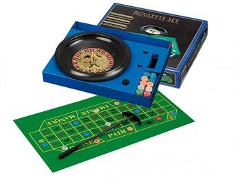 Image of   Roulette med spilleplade og chips