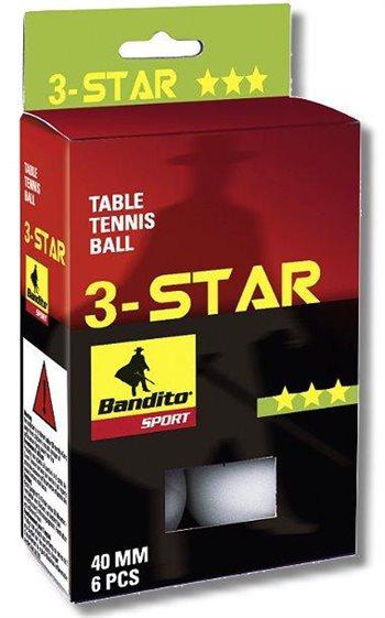 TT Bandito *** bordtennisbolde 6stk