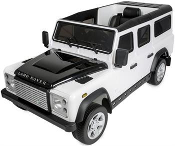 Image of   Land Rover Defender 12V med fjernbetjening og gummihjul