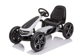 Mercedes Benz gokart pedal gummihjul hvid