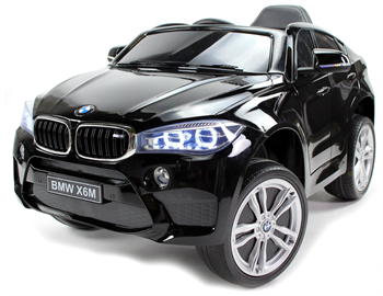 Image of   BMW X6M Sort 12V, Fjernbetjening, gummihjul