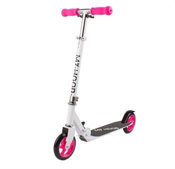My Hood løbehjul hvid/pink