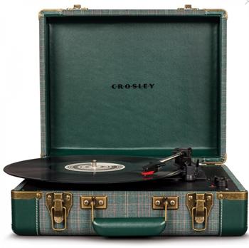 Crosley Portable Executive Pladespiller (Pine) Bluetooth