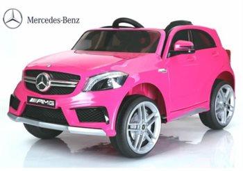 Image of   Mercedes A45 AMG Pink, 12Volt, fjernbetjening, gummihjul