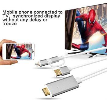 HDTV kabel - til Lightning og Micro USB