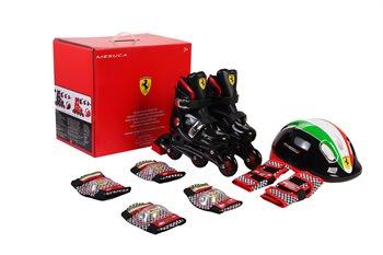 Ferrari Inliners rulleskøjter 29-32 komplet sæt