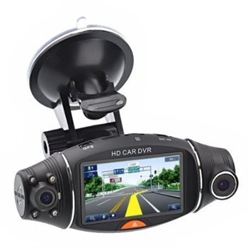 """Billede af Alcotell Bil kamera Black Box III, GPS, Twin kamera 1280 x 480, 2.7"""" LCD"""