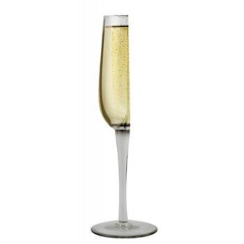 Happy half champagne glass