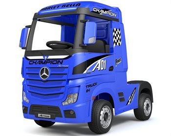 Image of   Mercedes Actros Truck Blå 12V, 4x12V motorer og 2 x 12V batterier