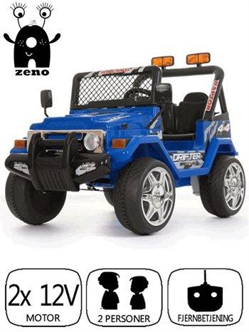 Billede af Azeno 12V Blå Buffalo 4x4, 2 personers. Gummi hjul
