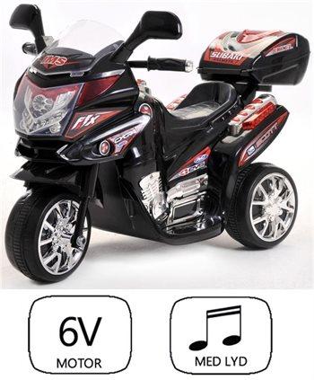 Image of Azeno 6V Night Rider sort motorcykel